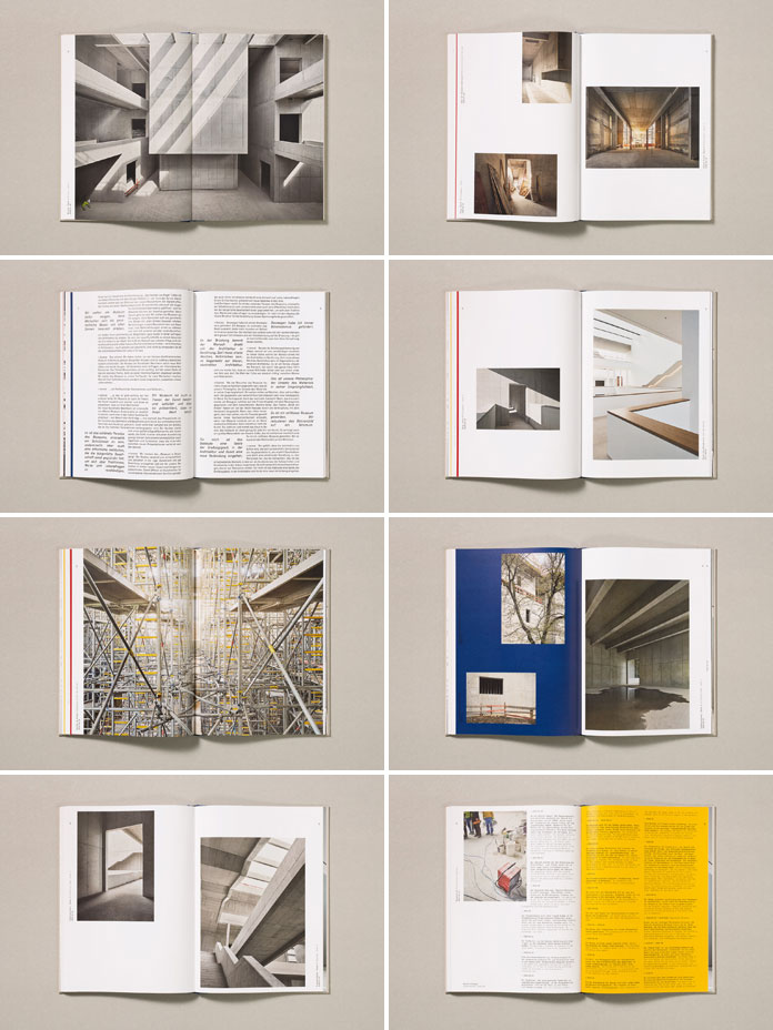 "Spreads of the book ""A City Within the City. The New Kunsthalle Mannheim"""