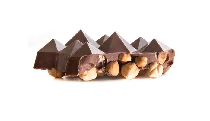Chocolates with full hazelnuts.