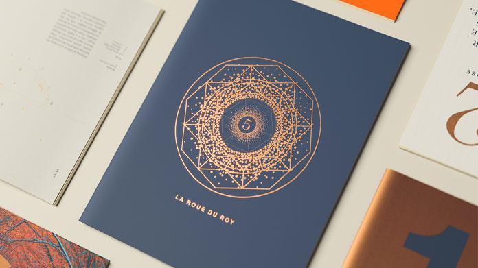 Elegant graphic design with unique illustrations.