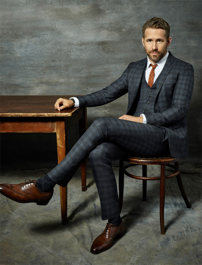 Michael Schwartz Photography, Portrait of actor Ryan Reynolds.