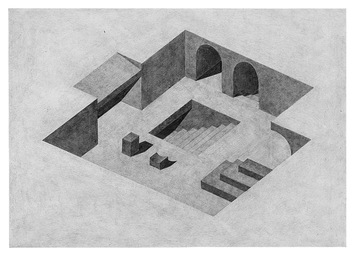 Pia-Mélissa Laroche, Pencil drawings on paper.