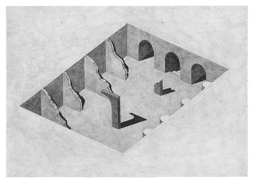 Pia-Mélissa Laroche, The illustrator creates the illusion of a three-dimensional world inside the paper.