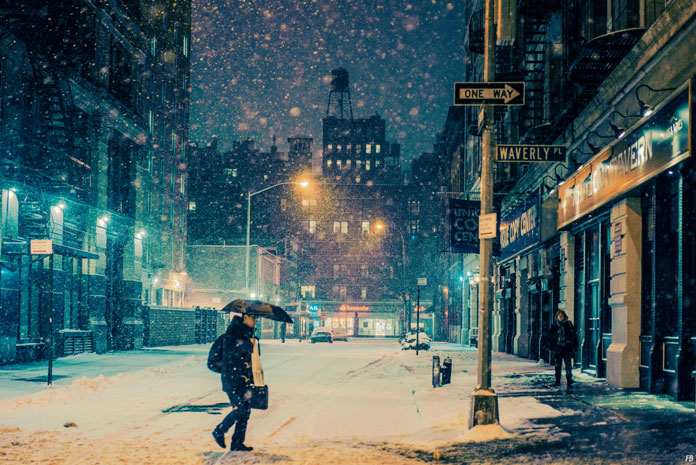 Franck Bohbot Photography, New York on a cold winter evening.