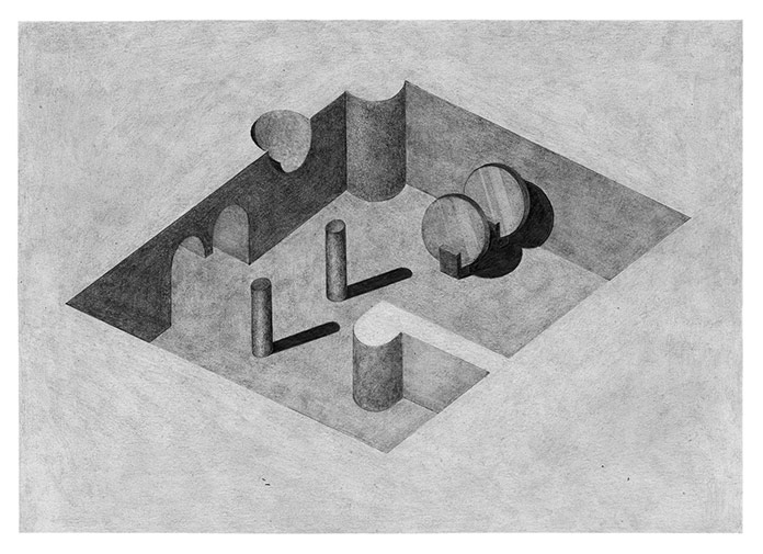 Pia-Mélissa Laroche, Surreal architectural shapes.