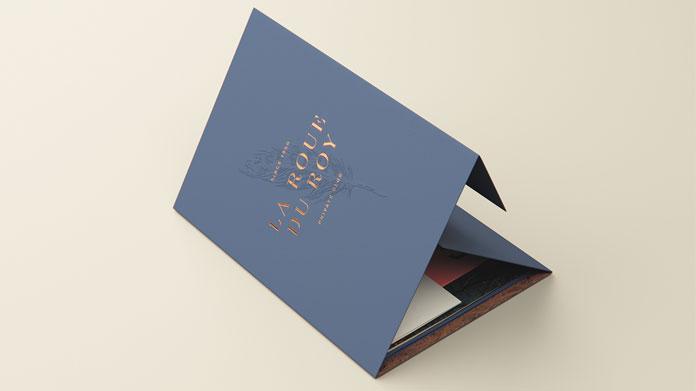 Folded brochure.