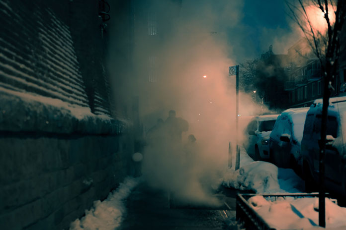 Franck Bohbot Photography, Steam from the subway shafts and the sewer.
