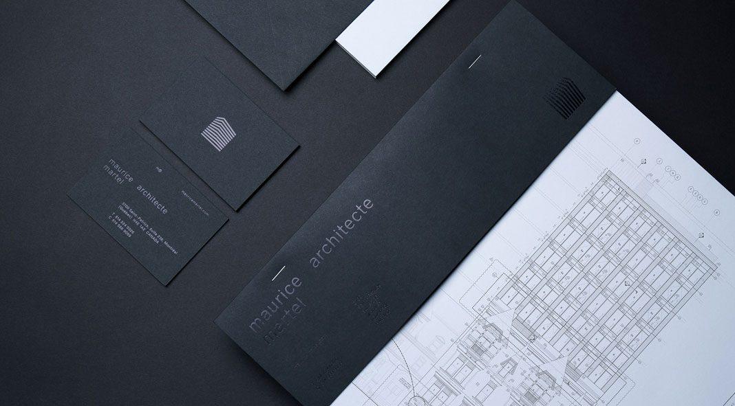 Architect Maurice Martel brand development by byHAUS studio.