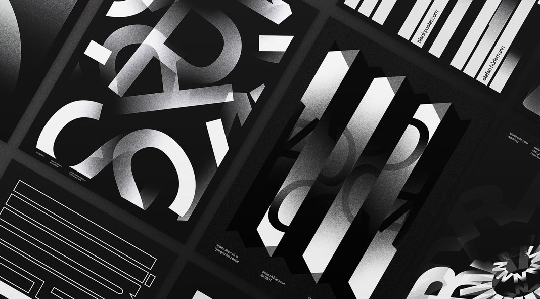 Black typographic posters by stefan hürlemann