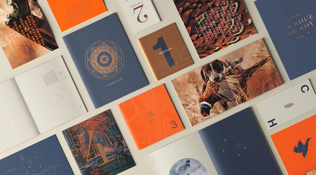 Brochure design by TUX Creative Co for La Roue du Roy.