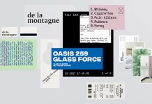De la montagne hotel – graphic design and art direction by Simon Langlois.