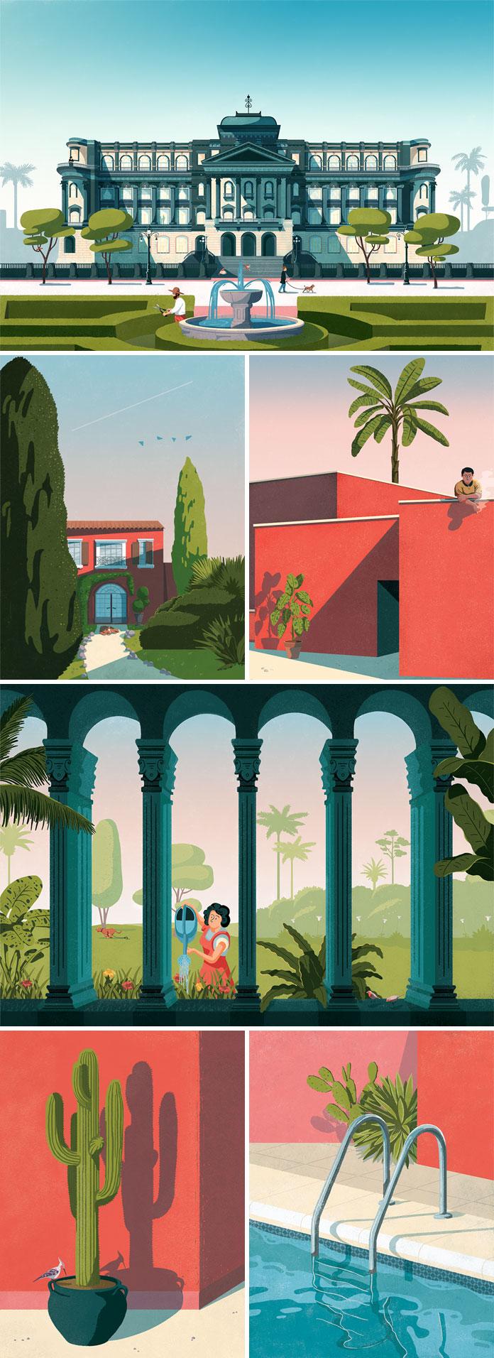 Fago Studio, Pavillon Gazon - illustrations