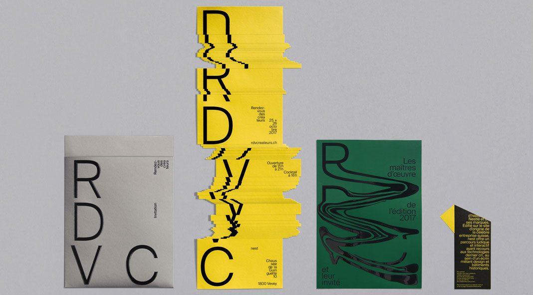 Graphic design and art direction by Balmer Hählen for Rendez-vous des créateurs 2017.