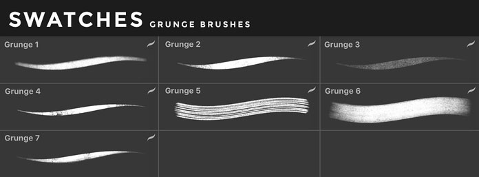 Grunge brushes for iOS app Procreate for iPad.