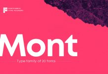 Mont font family from Fontfabric.