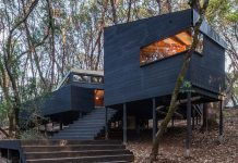 Northern California forest house by Envelope Architecture + Design.