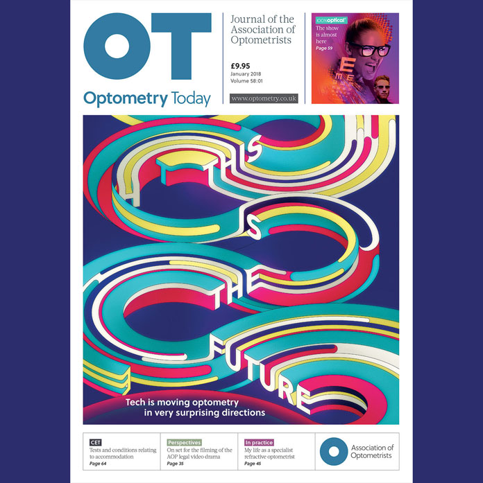 OPTOMETRY TODAY - This is the future - design by Charles Williams.