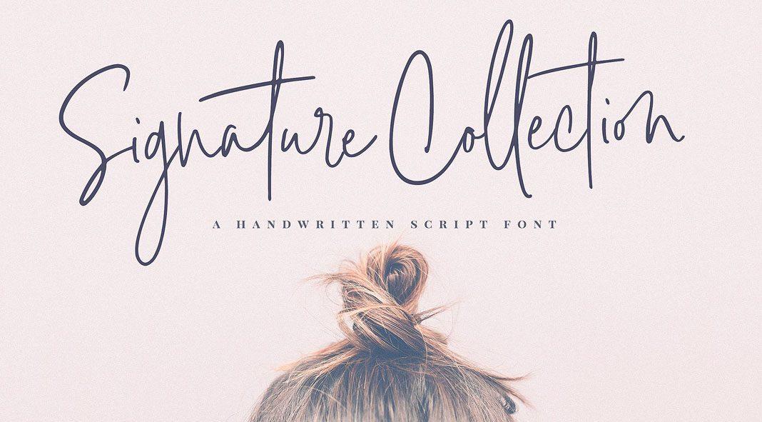 Signature Script Font Collection.