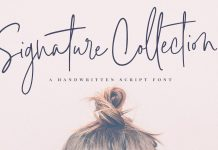 Signature Script Font Collection.