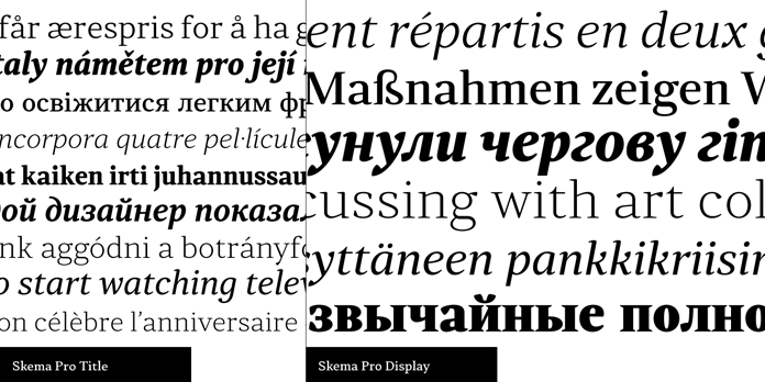 Skema Pro, text samples.