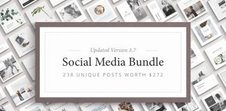 Social media templates bundle by Ruben Stom.