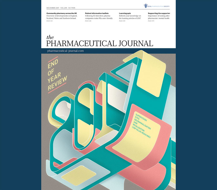THE PHARMACEUTICAL JOURNAL - 2017 END OF YEAR REVIEW - design by Charles Williams.