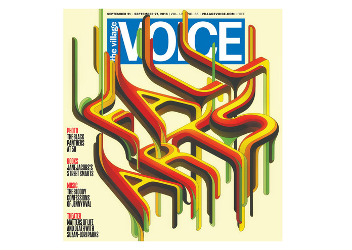 THE VILLAGE VOICE cover design by Charles Williams.