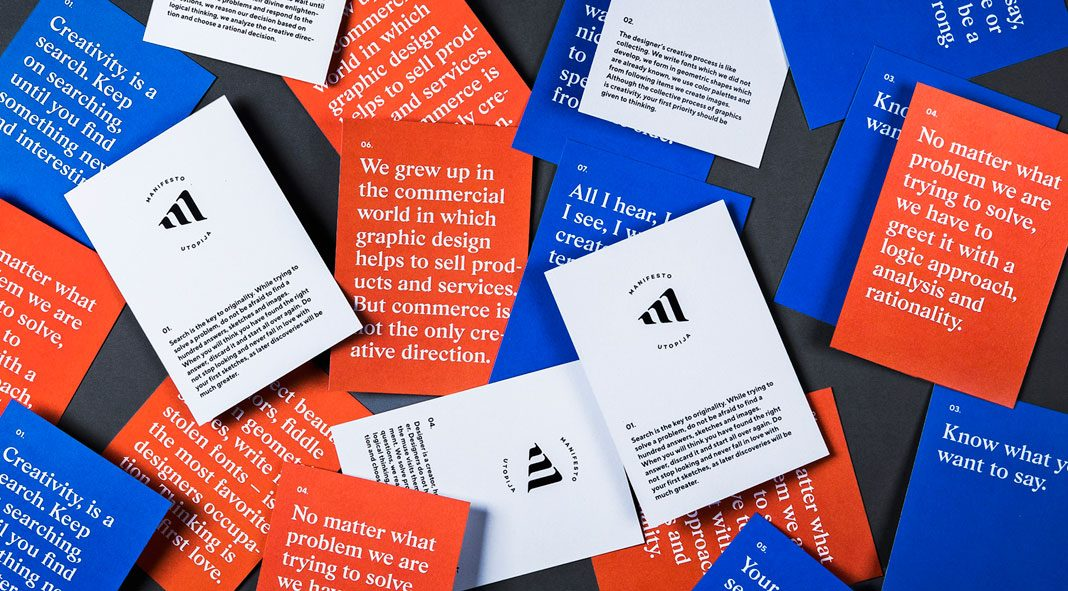 The Utopia of the Manifesto, a personal project by Andstudio.