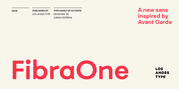 Fibra One font family from Los Andes.