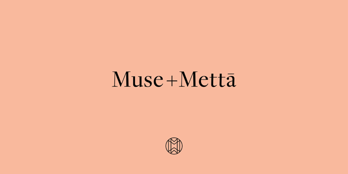 Graphic design, branding, and packaging by Kati Forner for Muse + Metta.