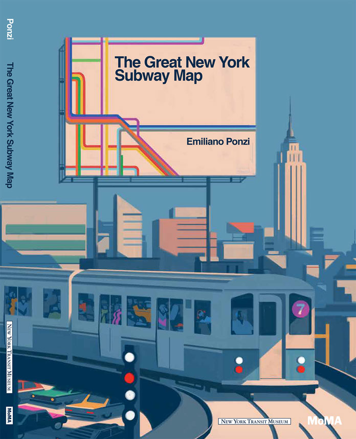 The Great New York Subway map • Moma 2018 - illustrations by Emiliano Ponzi.