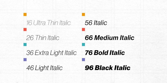 True Italics.