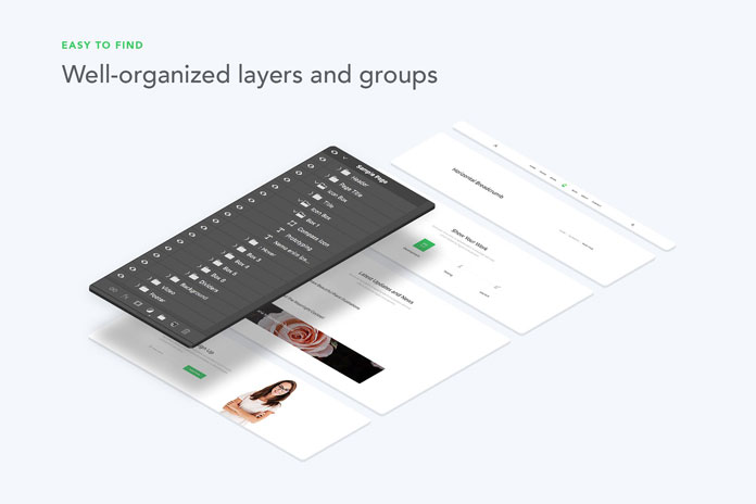 Well organized layers and groups.