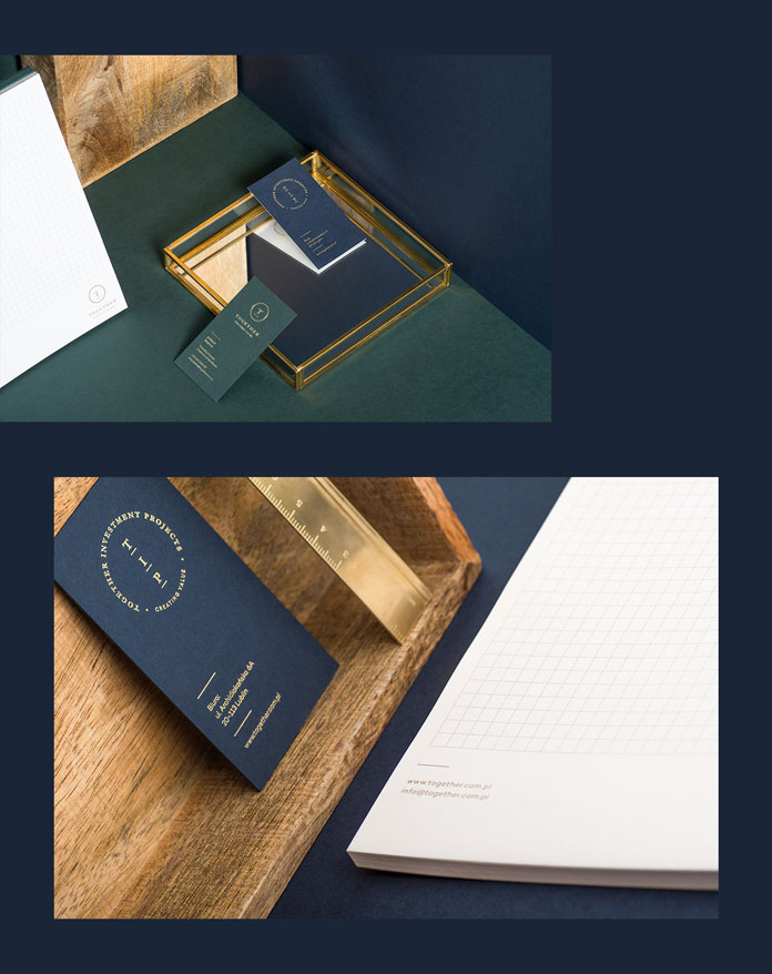 Business cards and stationery.
