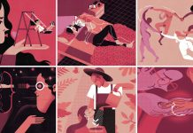 AMOR illustration series by Joan Alturo