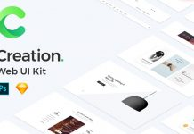 Creation Web UI kit.