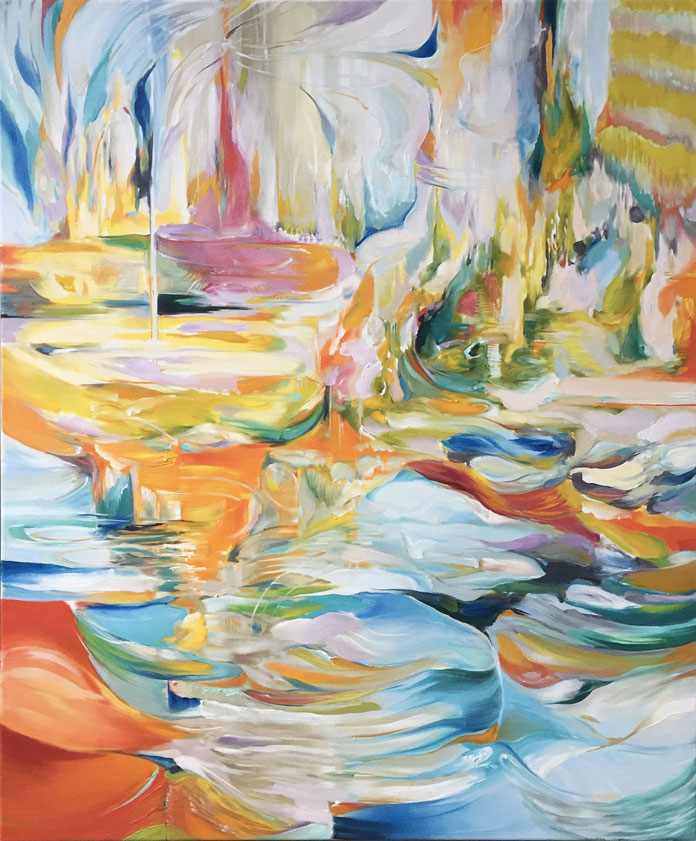 Luminous Undercurrent, oil paint on linen by Natalia Wróbel
