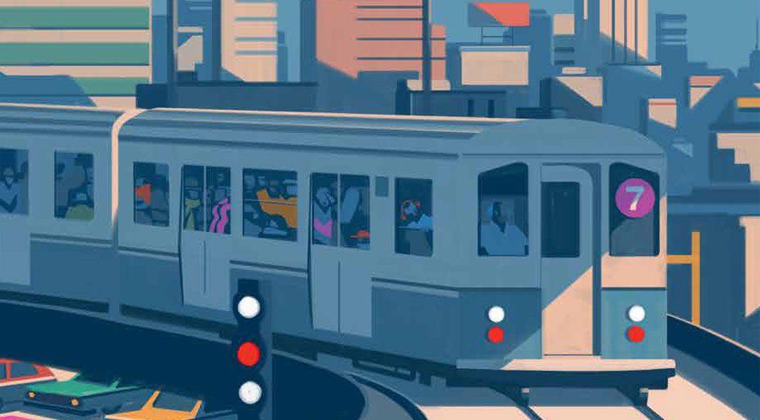 Nyc Subway Map Author Emiliano Ponzi.The Great New York Subway Map Moma 2018