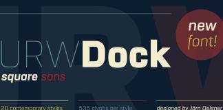 URW Dock font family.