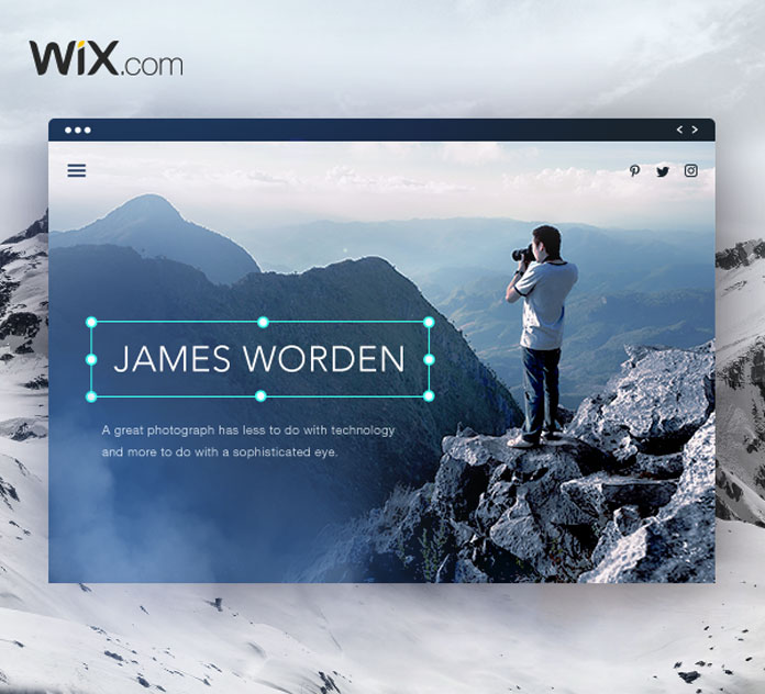 Wix - the free website builder for photographers and creative professionals.