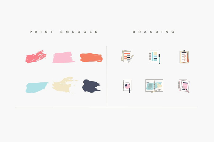 Paint smudges and branding