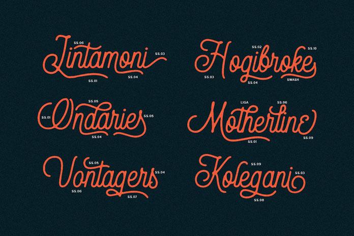 Vintage inspired lettering.