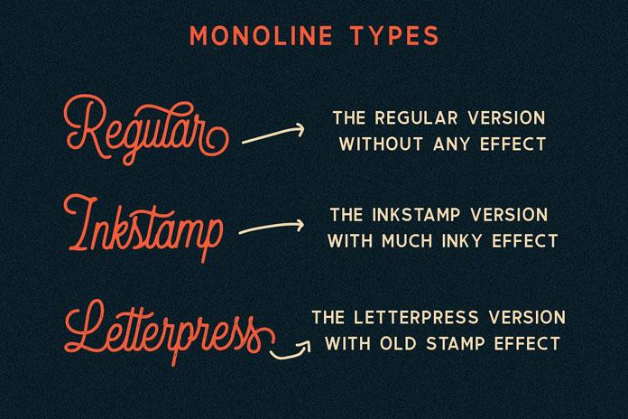 Monoline typefaces.