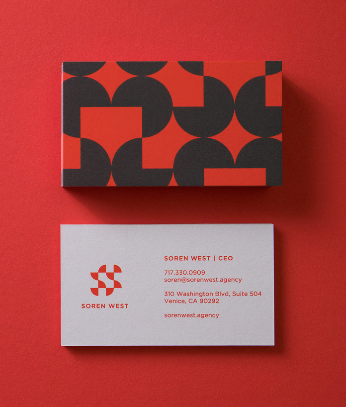 Business card front and backside.