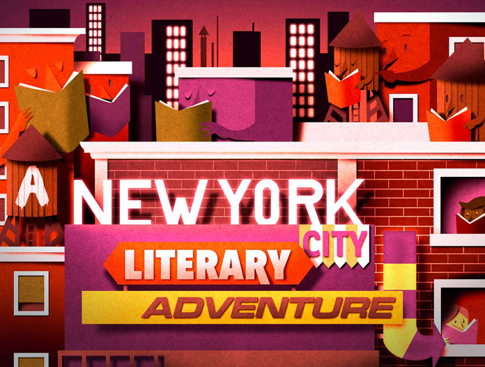 Illustration for the contest New York City Literary Adventure