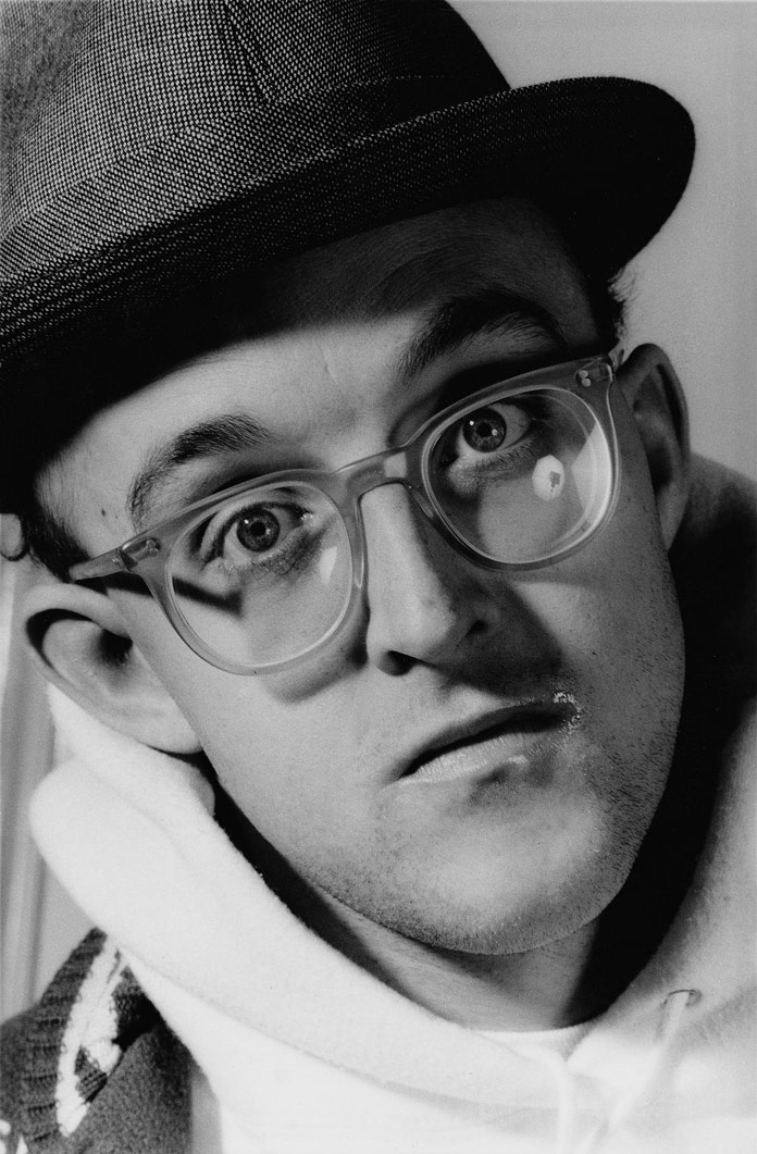 Keith Haring in 1989, photographed by Gottfried Helnwein