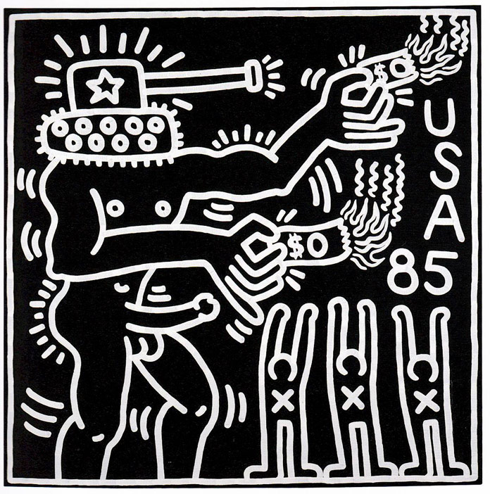 Keith Haring - untitled artwork from 1982 - © by Keith Haring Foundation