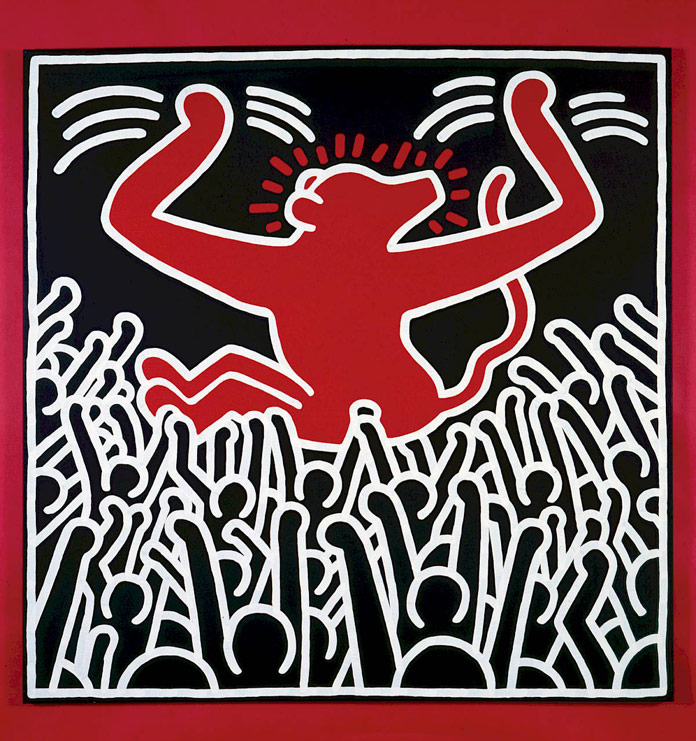 Keith Haring - untitled artwork made in 1985 - © by Keith Haring Foundation