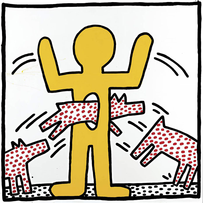 Keith Haring - untitled work from 1982 - © by Keith Haring Foundation