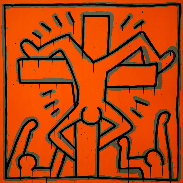 Keith Haring - untitled work from 1984 - © by Keith Haring Foundation