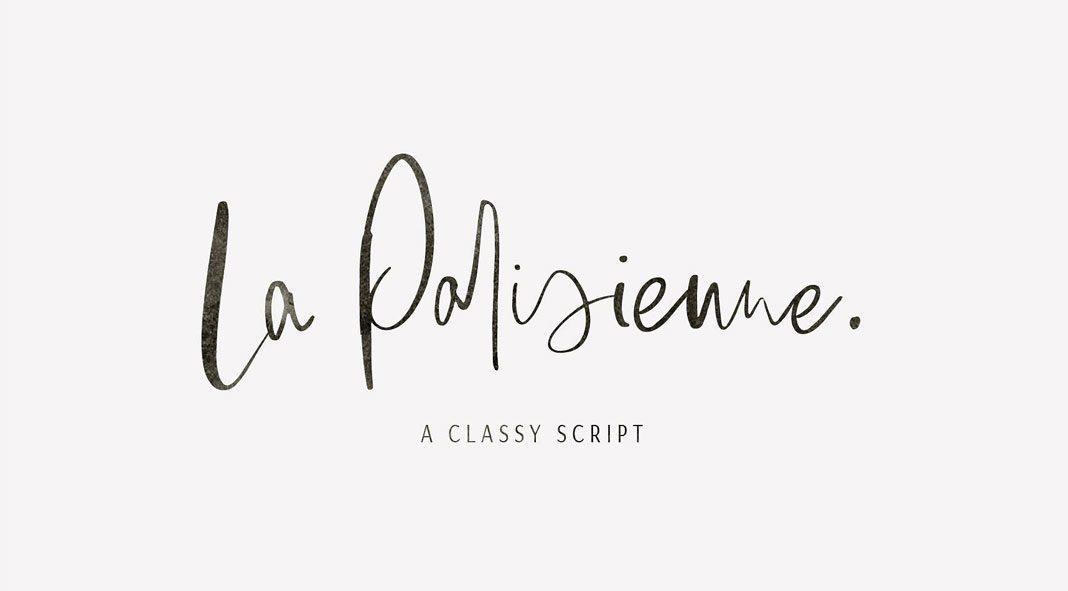 La Parisienne - classy script font by Sinikka Li